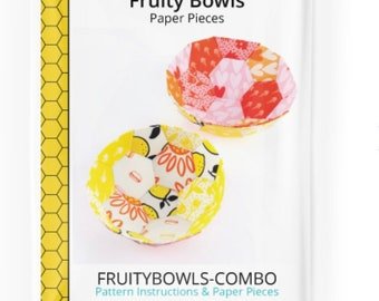 Fruity Bowls Pattern and Paper Pieces Kit and Fruity Bowls Refill Pack by Paper Pieces