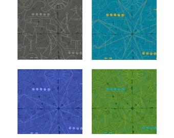 Alison Glass Compass A-8673 Sunprints 2018 Collection