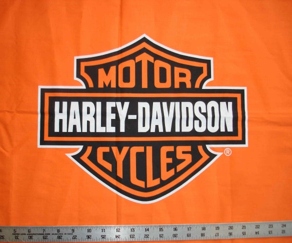 Harley Davidson Bar And Shield >> Orange Bar And Shield Harley Davidson Logo Fq Fat Quarter 18 X 21 Quilt Fabric 60 Cotton 40 Polyester Biker Motorcycle