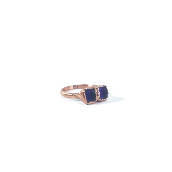 Faceted Amethyst Ring | Amethyst Ring | Amethyst Jewelry | Copper Ring | Dainty Ring | Electroformed Ring | Raw Crystal Ring | Crystal Ring by Etsy