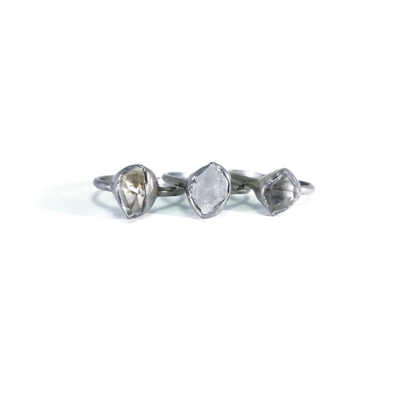 bague diamant herkimer