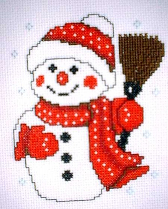 2 Two Christmas Cross Stitch Patterns For Cards Tablecloth Etsy