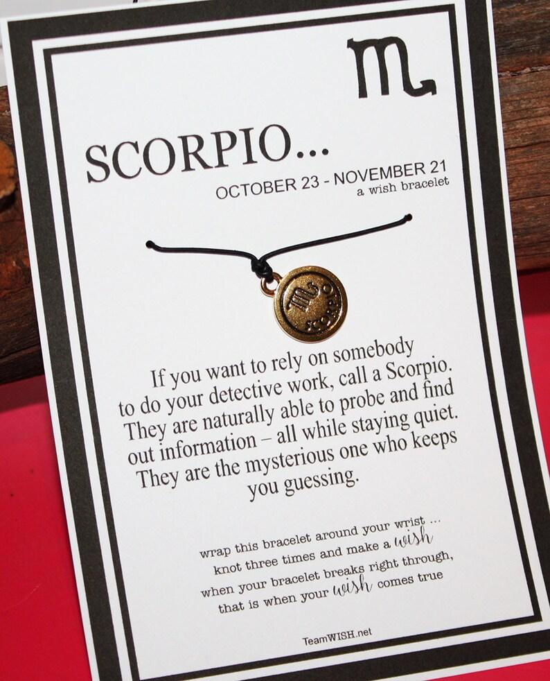 SALE    Scorpio Zodiac Double Sided Goldtone Charm Wish Bracelet -- Wishes  - Birthdays     Gift     Friendship Bracelet     Holidays