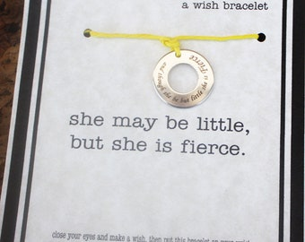 12 She May be Little Wish Bracelet - Make A Wish - Birthday ... Friendship Bracelet . . . Birthday Party Favors