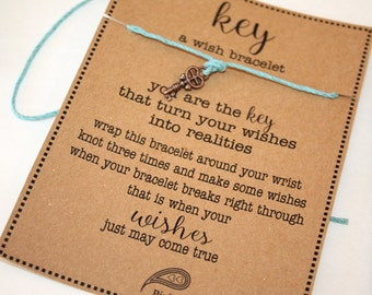 KEY Wish Bracelet - Make A Wish - Birthday ... Gift