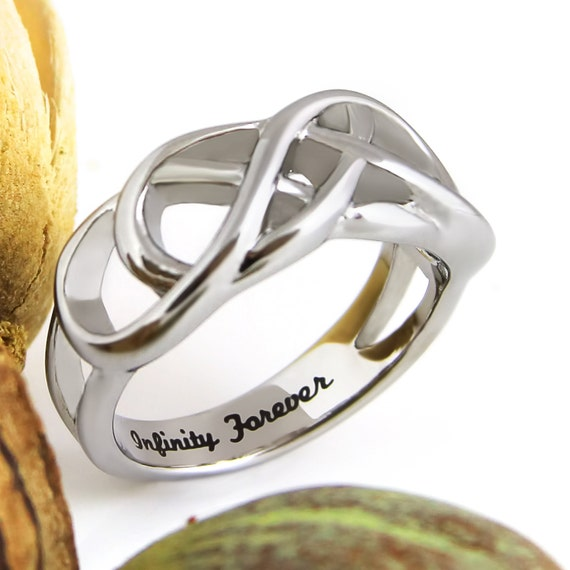 Infinity Ring Promise Ring Double Infinity Symbol Ring Etsy