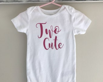 Free Shipping! Two Cute Onesie