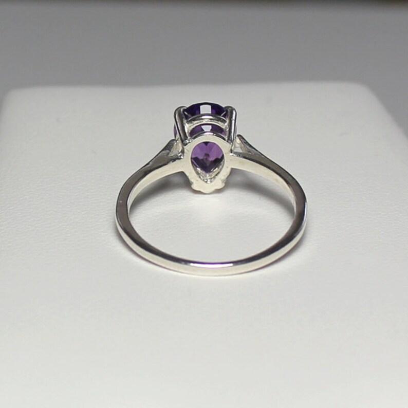 Purple African Amethyst Ring Sterling Silver  Amethyst Ring Silver