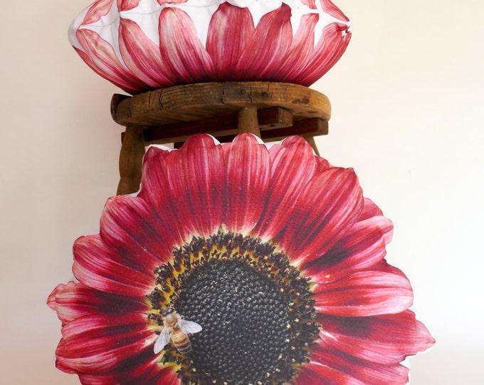 Sunflower/Bee pillow 2-sided