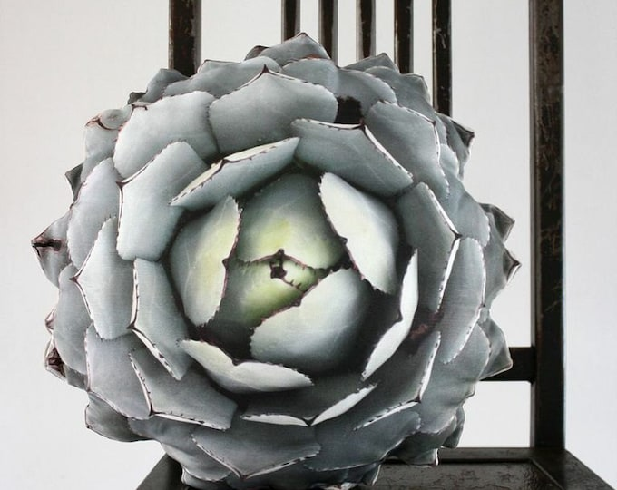 Succulent pillow made to order (Agave parryi var truncata)