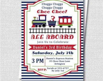 custom vintage train ticket birthday invitation etsy