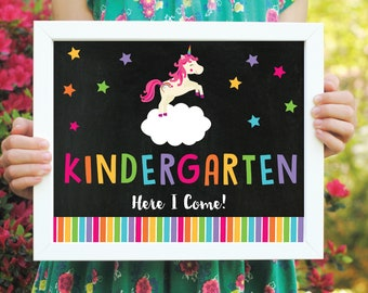 Last Day of School Unicorn Chalkboard Sign - End of the Year Sign - Girl End of the Year Sign - Custom Digital Design - Two Sizes
