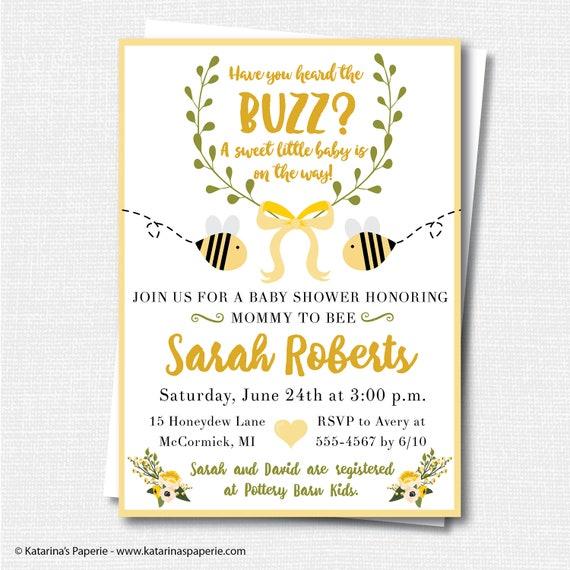 Baby Shower Invite Personalised Baby Shower Invitation Mummy to bee