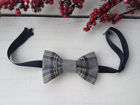 Red Stewart Plaid Tuxedo Bow Tie Pre-Tied
