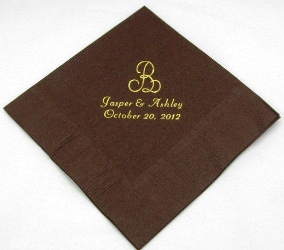 175 personalized monogram beverage napkins wedding napkins baby shower napkins