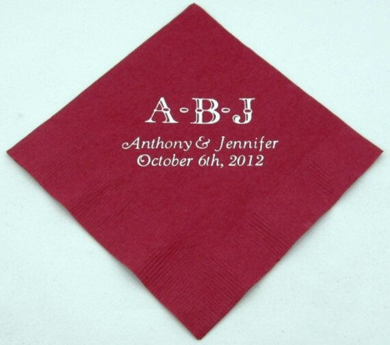 300 personalized beverage napkins wedding favors baby shower custom printed