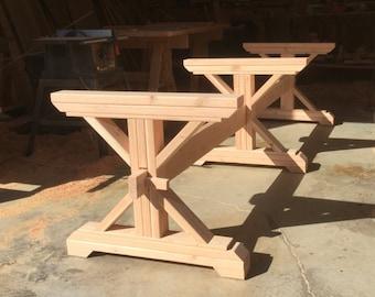 Merveilleux Farmhouse Triple Trestle Table DIY Kit