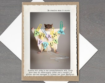Funny Thank You Card • Funny Thank You Cards for Friend • Appreciation Card • Gift for Teacher • Thank You Card for Coworker