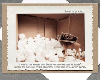 Motivational Greeting Card • Miniature Deer Card • Toy Animal Inspirational Card • Follow Your Dreams Card