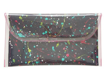 Clutch bag / evening bag / party clutch / Going out bag / make up bag / Handpainted bag