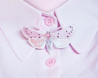 Copablepharon Atrinotum | Butterfly Tie | No. 4 | Moth | Bow Tie | Brooch