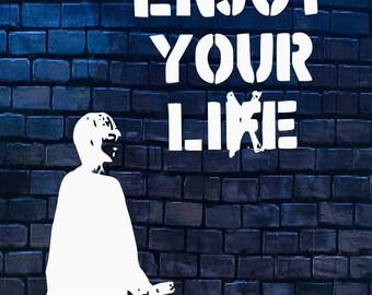 Enjoy your LIE Bansky modern Graffiti Wall Art Political Satire Art Statement Wall Art Fast Shipping with in 24 hours