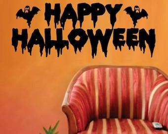 Happy Halloween Wall Vinyl Decal Sticker Art Graphic Sticker