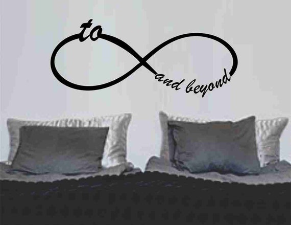 To Infinity And Beyond Symbol Wall Decal Sticker Family Art Etsy