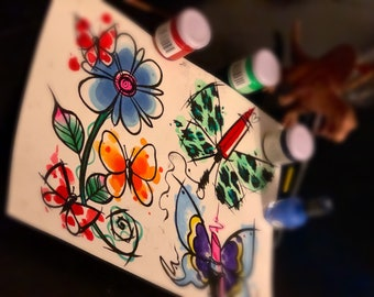 ORIGINAL bold beauty sheet of tattoo flash by Kristel Oreto