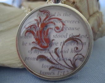 The Crown of Life Scripture Necklace Bible Verse James 1:12