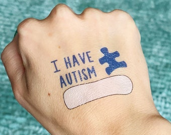 AUTISM Emergency Contact Number, Write-on, Temporary Tattoos