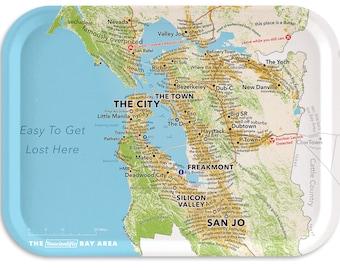 """San Francisco Bay Area 11""""x8"""" tray according to Urban Dictionary"""
