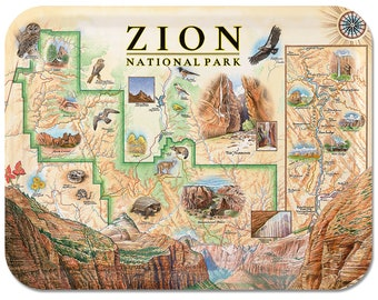 """Zion National Park Utah Serving Tray 16""""x12"""""""
