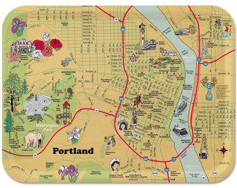 """Portland Illustrated Serving Tray 16""""x12"""""""