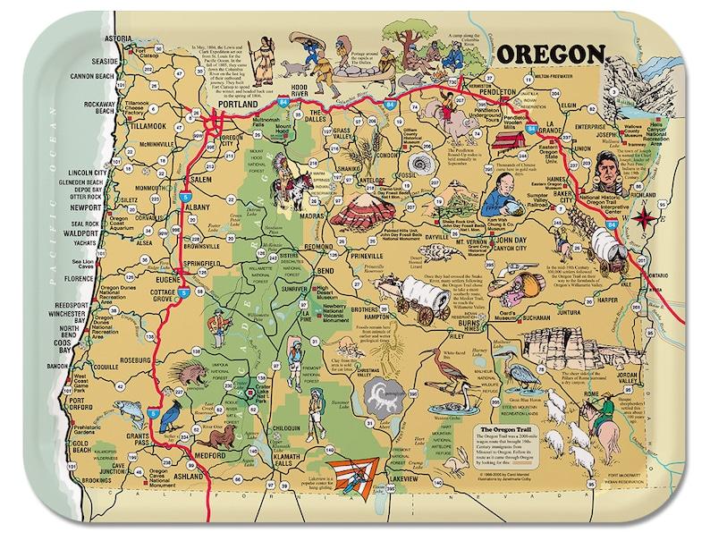 Oregon Illustrated Serving Tray image 0