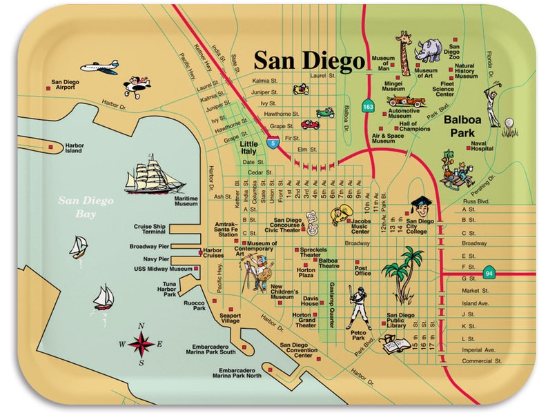 San Diego Breakfast Tray 11x8 image 0
