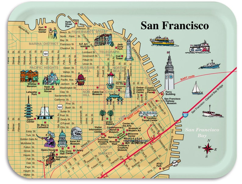 San Francisco PierTray 11x8 image 0
