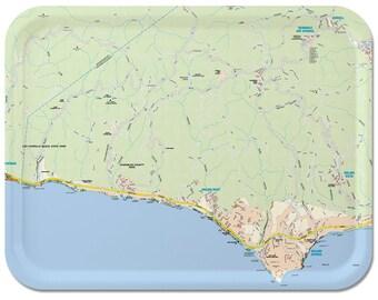 Malibu Street Map Serving Tray