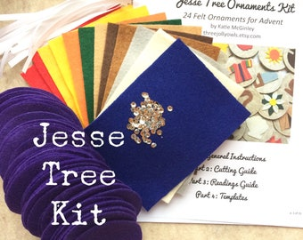 Jesse Tree Ornament Kit READY To SHIP | Advent, Catholic, DIY, Felt, Craft, Activity for Family and Kids