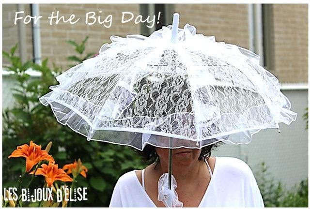 White Lace Umbrella Bridal Sunshade Wedding Accesory Costume Umbrella Gothic Sunshade Vintage Look