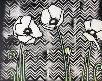 Pretty Poppies original painting