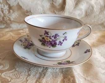Vintage Bamboo tea cup and saucer by Craftsman China Company made in Japan