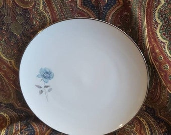 On Sale Ruffled Gold Band and Off White Plate Made in England By Johnson Brothers  Serving Dinner or Chop Plate