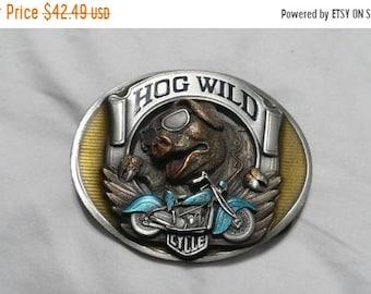 "Bergamot 1994 Hog Wild 4 1//2/"" Belt Buckle"