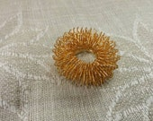 Collectible Jewelry Brass Flower or Round Floral Brooch or Pin Fashion Accessory Costume Jewelry