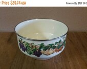 On Sale Tabletops Unlimited, Pale Yellow, Kensington Garden, 7.90 inch, Tall Mixing Bowl, Enamel and Chrome Serving Dish
