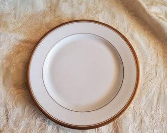 Vintage O P and Company Syracuse Dusty Blue Ironstone Dessert Plates