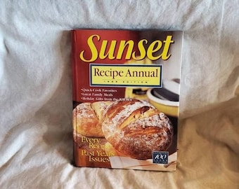 On Sale Sunset, Recipe Annual, 1999 Edition, Hard Back Cook Book ,Vintage Kitchen, Menu Guide