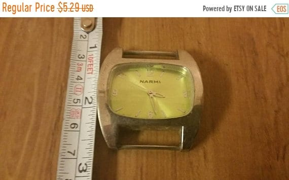 on sale working narmi silver toned watch face with stainless etsy