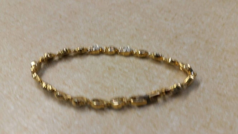 On Sale Inexpensive Bling Gold Toned and Rhinestone Tone Heart Link Bracelet Costume Jewelry Fashion Accessory